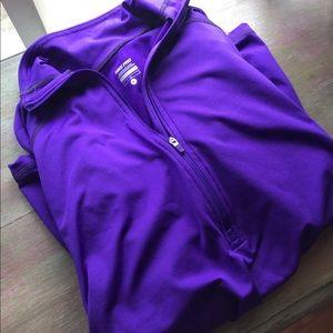 Women's Nike 3/4 Zip Purple Long Sleeve Pullover